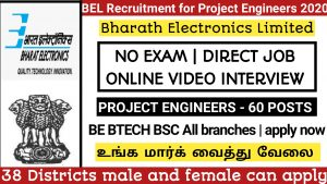 BEL RECRUITMENT PROJECT ENGINEERS 2020-2021