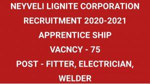 NLC RECRUITMENT 2020-2021