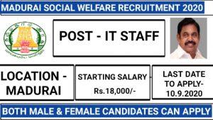 Madurai social welfare office recruitment 2020