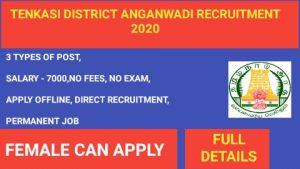 Tenkasi anganwadi recruitment 2020