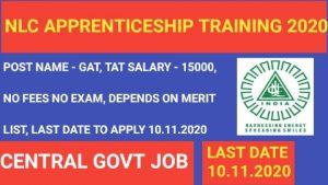 NLC Apprenticeship 2020