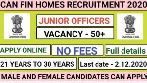 Can fin homes recruitment for Junior officers 2020