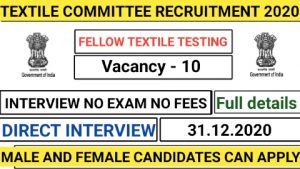Textile committee recruitment for fellow in textile testing 2020