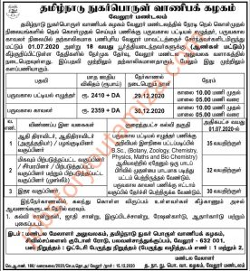 TNCSC recruitment for Clerk and security guard 2020
