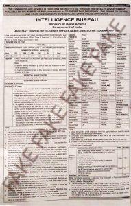Fake Intelligence bureau recruitment for Assistant intelligence officer 2020