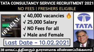 TCS NQT Recruitment 2021