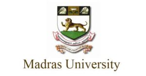 Madras university recruitment 2021