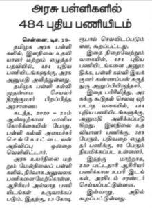 TN school jobs 2021