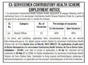 ECHS Recruitment 2021
