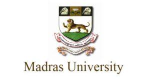 Madras university recruitment 2021