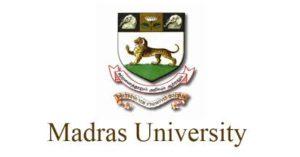 Madras university recruitment 2021 tamil