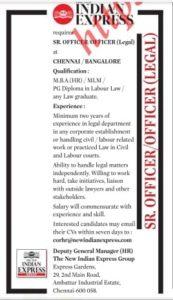 Indian Express Recruitment 2021