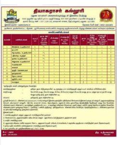 Thiagarajar College Recruitment 2021 Jobs